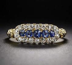 Victorian Period – 5 sapphires – antique engagement rings