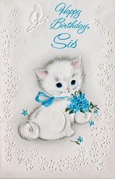 vintage birthday card (sister)