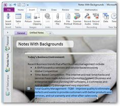 How to personalize One Note in Microsoft office