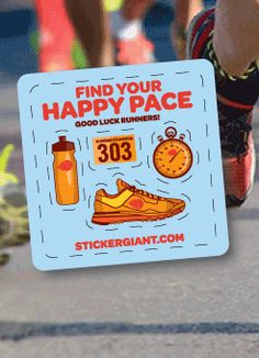 We hope everyone has their running shoes ready because tomorrow morning is the annual Longmont Sunrise Stampede! In those race bags you will find their sweet event logo sticker and an extra sticker sheet from yours truly for fun. Find your happy pace.