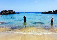 Un plan perfecto en la playa Chica de Fariones, almuerzo en el muelle y vuelta a la cala. Lanzarote
