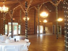 i like the lights around the beams - maybe for the dance floor? pretty