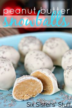 Six Sisters Peanut Butter Snowballs on MyRecipeMagic.com are so easy to make and the kids will love these! #sixsistersstuff