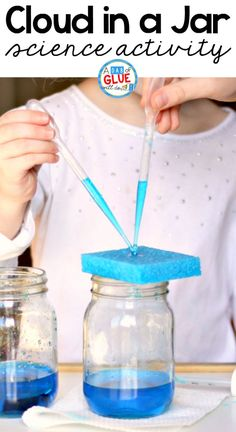 Making a sponge rain cloud in a jar science activity is a fun and easy activity that shows children more about the process of how it rains. This is the perfect hands-on science activity to accompany a weather unit at school or to enrich learning at home! via @dabofgluewilldo