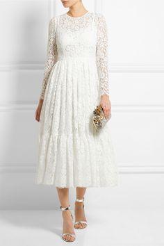 Dolce & Gabbana | Robe en dentelle de coton mélangé | NET-A-PORTER.COM