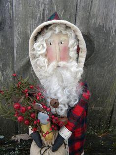 Primitive Folk Art Santa Father Christmas by crowaboutprimitives, $45.00