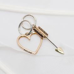 Heart and arrow (pair) | Palas Jewellery