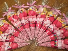 Seeet Mafia 15 Pink medium party sweet cones - ideal replacement for party bag!