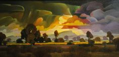 "Contemporary Painting - ""Emerald Rain"" (Original Art from Mac Stevenson)"