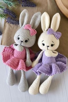 Crochet Rabbit Free Pattern, Easter Crochet Patterns, Crochet Bunny Pattern, Crochet Amigurumi Free Patterns, Cute Crochet, Tutorial Amigurumi, Crochet Doll Tutorial, Amigurumi Doll Pattern, Crochet Projects