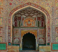 Detail of Gateway, Amber Fort by Java Cafe