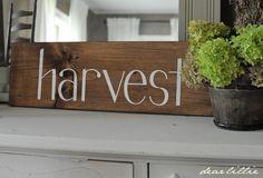 Dear Lillie: Harvest Sign