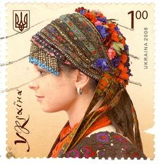 Ukraine - Stamp 2008  Hair Dress by 9teen87's Postcards, via Flickr