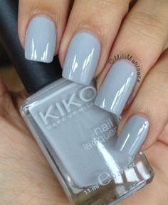 Kiko 328 #lightgrey #winternails