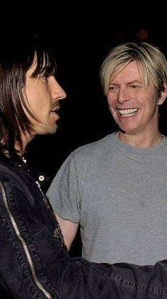 David Bowie & Anthony Kiedis. My two idols in one picture