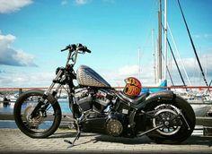 Harley Davidson Evolution Softail Chopper Sportster lowbrow Gas Tank custom paint