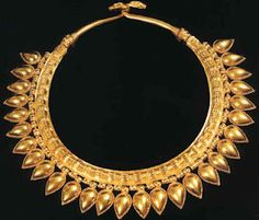 Greek gold necklace
