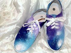 DIY Galaxy Shoes  #diy #galaxy #shoes #tutorial #doityourself