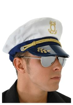 Captain your next high seas adventure with this dashing Mens Sailor Captain Hat. There's nothing more attractive than a man in a uniform. Yes, the hat's apart of the uniform. Navy Costume, Costume Hats, Costume Ideas, Sailor Halloween Costumes, Adult Costumes, Adult Halloween, Haunted Halloween, Halloween Stuff, Halloween Accessories