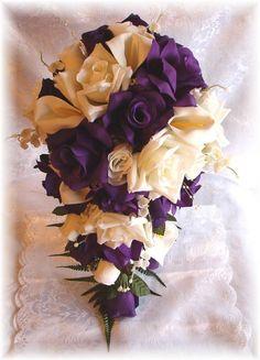 Purple Rose Calla Lilly Wedding Bouquet (Source: i.ebayimg.com)