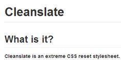 cleanslate | css reset for plugins/widgets on 3rd party web pages - consists of !important rules