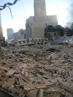 9/11  I remember standing here and wondering .. where do we even begin ... the task was huge ... but we would find a way to get under that pile and search for survivors ... I still wake some nights .. still under this pile in the dark .. searching