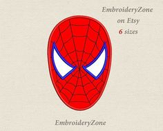 Mask of Spiderman Applique machine embroidery design. Press The Red Button, Applique Embroidery Designs, Canvas Paintings, Spiderman, My Design, Fonts, Printables, Superhero, Animal