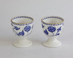Vintage blue and white egg cups by Copeland Spode by PeriodElegance, www.PeriodElegance.etsy.com