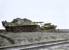 A Jagdpanther destroyed by a U.S. M36 Jackson belonging to the 899th Tank Destroyer Battalion.