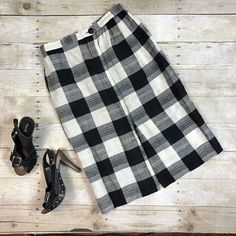 VTG Joseph Magnin Womens Skirt Plaid Blk White VLV Pin Up School Girl Mod 60s | Clothing, Shoes & Accessories, Vintage, Women's Vintage Clothing | eBay!