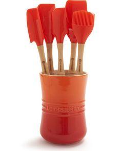 Le Creuset Le Creuset® Flame 6-Piece Revolution Tools Set from Sur La Table | BHG.com Shop