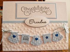A Brand New Grandmother baby boy congrats card by Carol Longacre