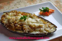 Mis recetas Mycook: Berenjenas rellenas de carne Relleno, Baked Potato, Mashed Potatoes, Baking, Ethnic Recipes, Food, Ethnic Food, Cook, Food Processor