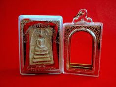 Thai Amulet Phra Somdej Wat Rakang Special Buddha Blessed+Cased+Temple Box Charm