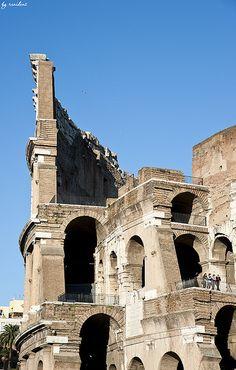 Coliseum Details, Rome, Italy