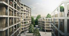 Logements dans le quartier Bérée 2, Atelien Architecture | BETA