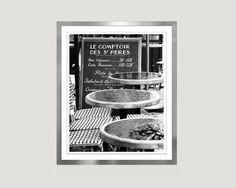 Paris cafe Extra Large Wall Art print by RivuletPhotography #blackandwhite #paris #pariscafe #etsyfinds #photography #print #wallart #homedecor #buyonline #ElenaAnufrieva #buyart