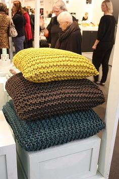 knit pillows More