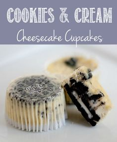 #Cookies and #Cream #CheesecakeCupcakes steal the show! #CupcakeRecipes