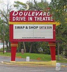 Boulevard Drive In Theatre...Opened in 1950.....Kansas City, Kansas