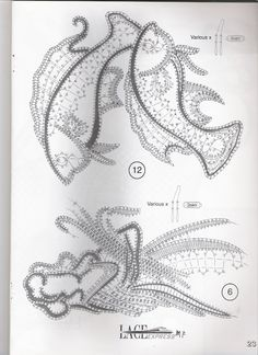 lace express 2002 - 02 - 25 Mb - isamamo - Álbumes web de Picasa Irish Crochet, Crochet Motif, Crochet Designs, Crochet Lace, Bobbin Lace Patterns, Bead Embroidery Patterns, Beaded Embroidery, Lace Art, Needle Lace