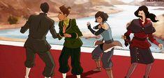 Escape | Korra | Asami | Mako | Prince Wu | Book 4: Balance | Legend of Korra | Avatar | (gif)