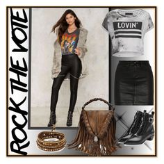 """selly"" by selly111528 ❤ liked on Polyvore featuring Glamorous, Chan Luu, rag & bone/JEAN, Religion Clothing, Marc by Marc Jacobs and rockthevote"