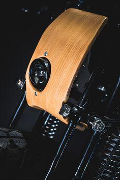 Smoking Black Fish by George Woodman Honda Dominator, Cb750 Honda, Cafe Racer Parts, Bmw Cafe Racer, Ducati Monster, Custom Motorcycles, Custom Bikes, Chopper, Cx 500