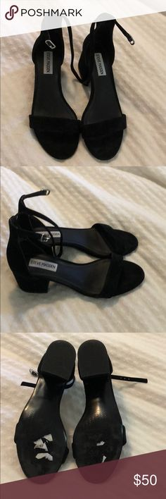 Steve Madden irenee ankle strap heel black size 6 Steve Madden irenee ankle strap heel black size 6. Worn once..got a 6 needed a 6.5. My loss :( Super cute and comfortable shoe! Currently at Nordstrom for 79.95 Steve Madden Shoes Heels