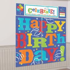Happy Birthday Fever Scene Setter  Setter feature HAPPY BIRTHDAY message in colourful tone. Great for indoor and outdoor use, this lightweight vinyl doubles as an impressive background for phototaking!