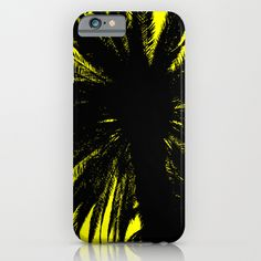 Palm Trees Silhouette - Yellow Sunrise iPhone & iPod Case