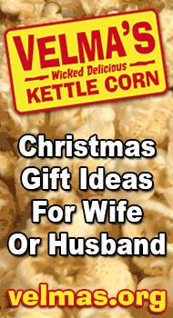 http://velmas.org - Christmas gift ideas for wife or husband. Kettle corn makes a delicious gift idea for your wife or husband. $20 #christmas #gift #wife #husband #unique #good #best #great #online #inexpensive #cheap #popcorn