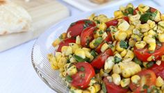Tex-Mex Grilled Sweet Corn & Tomato Salad Recipe - pairs with the Grilled Shrimp Taco