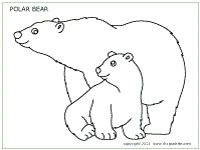 polar bear coloring pages preschool - photo#16